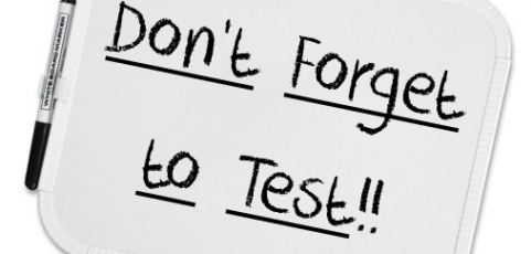 Don't Forget to Test Before You Send